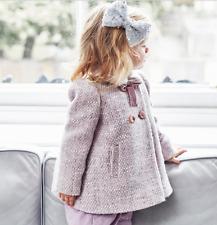 Girls Monsoon Sybill Tweed Childrens Baby Jacket Coat 3 - 24 Mths 2- 3 Years New
