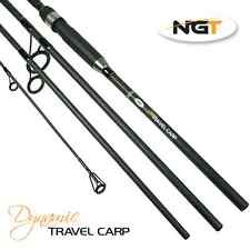 NGT 4pc Piece Travel NGT Carbon Dynamic Carp Fishing Rod 11ft 3.3M With 2.75 TC