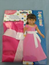 """Springfield Doll Clothes -Pink Dress fits American Girl or 18"""" doll"""