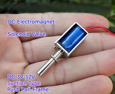 Mini Dc3v 12v Electromagnet Solenoid Valve Suction Type Push Pull Frame For Lock