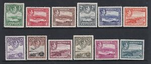 ANTIGUA 1938 KGVI DEFINITIVE SET  MINT (SOME LIGHTLY/NEVER HINGED)