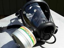 Survivair #763000 40mm NATO Opti-Fit Tactical Gas Mask w/Brand New NBC Filter