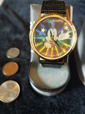 DISNEY_SCARCE_NOS_NIB_SEIKO by LORUS_MICKEY MOUSE_HOLOGRAM WATCH_ LEATHER BAND