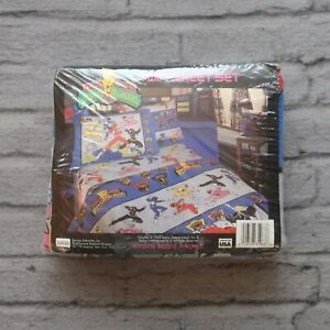 Vintage New 1994 Power Rangers Twin Sheet Set Sealed 90s Bed