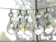 "Sale! 40 Lead Crystal Chandelier Lamp French Pendants Prisms Parts 1.5""L"