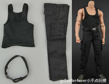 """1/6 scale Black suit special soldier Rambo clothes fit 12"""" body figure"""