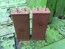 PAIR KBG-MN 600V  High Voltage CAPACITOR PIO pulsed discharge Pro RARE NOS USSR