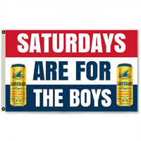 Saturdays are for the boys Landshark Beer  Flag Banner 3 X 5 Ft