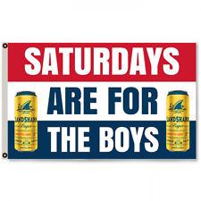 Saturdays are for the boys Landshark Beer  Flag Banner 3 X 5 Ft