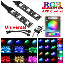 One Pair DC12V RGB 6LED Demon Devil Eyes For Car Headlight Retrofit APP Control
