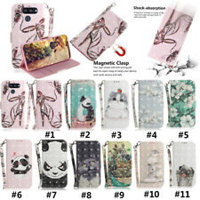 New Painted Leather Flip Wallet Folio Phone Case Cover For LG K40S Stylo 5 W10