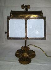 Rare Antique Double Porcelain LITHOPHANE LITHOPANE Viewer Desk Lamp Light