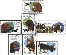 Vietnam 2073-2079 (kompl.Ausg.) gestempelt 1989 Hunde