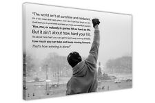 ROCKY BALBOA MOVIE QUOTE WALL PICTURES CANVAS ART PRINT DECORATION BOXING SPORTS