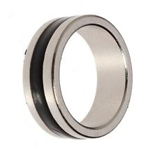 Fantasy Magnetic Magic Ring Silver Black Finger Trick Props Tool Size SML