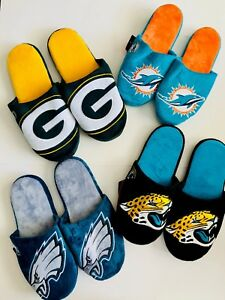 NFL Men's Colorblock Slide on Slippers-Pick your team-Forever Collectibles