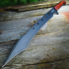 "26"" TACTICAL SURVIVAL Fixed Blade ZOMBIE MACHETE Hunting Sword Full Tang Knife"