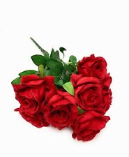 "9 Head 17"" Artificial Fake Silk Rose Flowers Wedding Party Bouquet Home Decor"