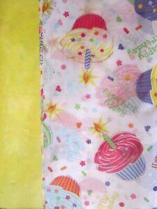 "Happy Birthday Cupcakes Premium Gift Wrap Tissue Paper 20 Sheets 20"" x  20"" New"