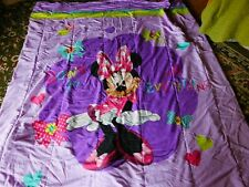 """Minnie Mouse Bedding Comforter Quilt 64"""" x 86"""" Polyester Ages 3 + Macine Washabl"""