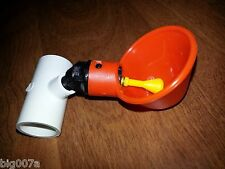 """5 Automatic Poultry or Game Bird Water Cups with 1/2"""" PVC Tee"""
