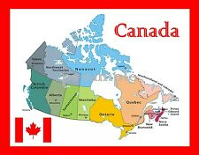 Map of CANADA - Travel Souvenir Fridge MAGNET
