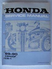 Honda Genuine Shop Service Manual CB400F CB-1 CB1 89-90