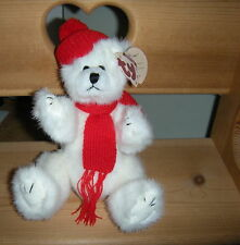 Retired 1993 Ty Collectible Attic Treasures Peppermint White Jointed Bear Tag