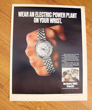 1972 Timex Watch Ad  Electric Power Plant on your Wrist