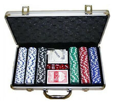 POKER FICHES SET 200 PEZZI CHIPS IN METALLO CON PRINT