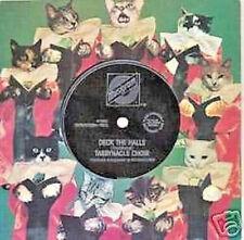 "2 Cat Xmas Cards/Records ""Tabbynacle Choir"" 1982 No Envelopes Vintage,But Virgin"