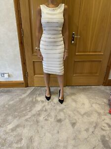 Herve Leger Fatima White Sequin Dress/small/100% Authentic/worn Once