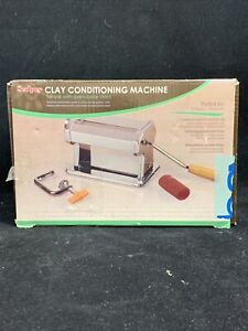 SCULPEY CLAY CONDITIONING MACHINE FOR OVEN-BAKE POLYMER USED ROLLER NON SKID FT