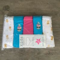 5 x Pairs Girls Unicorn Emoji Cats Shorts Boyshorts Knickers Briefs Age 4 - 15