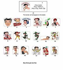 Personalized Return Address Betty Boop Labels Buy 3 get 1 free (mo4)