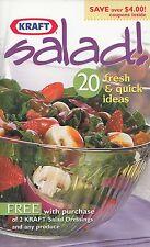 SALAD! 20 FRESH & QUICK IDEAS KRAFT 2001 COOKBOOK ITALIAN PIZZA BOWL SALAD, MORE