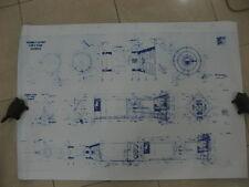 Saturn V Assembly Layout Blueprint Drawing Diagram Plan