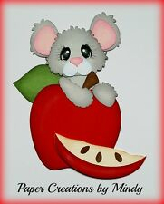Craftecafe Mindy Mouse Apple Orchard premade paper piecing scrapbook page border