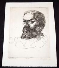 '64 California Etching Print Michelangelo III by Thomas Cornell (1937-2012)(Mod)