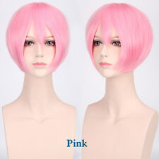 BOB Short Straight Cosplay Anime Carnival party Wig heat resistant 20 Colors
