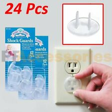 24 Pcs Safety Electric Outlet Plug Protector Cover Child Proof Shock Guard