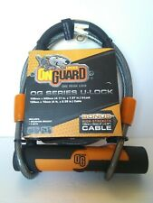 OnGuard BullDog Series U-Lock 3.5 x 5.5 Keyed Black//Yellow Includes 4/' cable