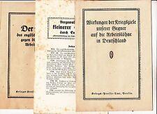 3 x Propaganda Heft 1 Wk IWW gegen England * Kriegs - Presse Amt Berlin !