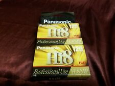 2 Panasonic Hi8 MP 120 Professional Use Blank Video Cassette - SEALED