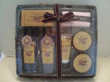 Tuscan Hills 7 Piece French Lavender Beauty Set With Basket Box NIB!