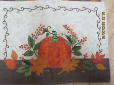 Set 3 Fall Padded Placemats- Embroidered Pumpkins -#R18A