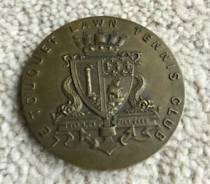 1926 Le Touquet Lawn Tennis Club International Tournament Medallion