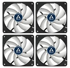 4 x Pack of Arctic Cooling F12 PWM 120mm 12cm PC Case Fan, 4 Pin PWM, 53CFM
