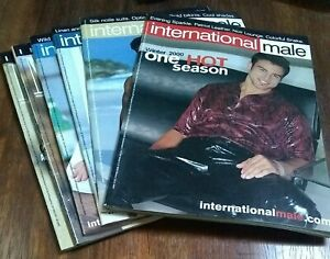 Vintage Group Of 6 International Male Catalog's Ca 2000's
