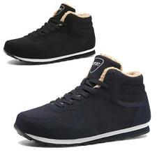 Mens Womens Winter Snow Ankle Boots Fashion Plush High Top Sneakers Warm Shoes